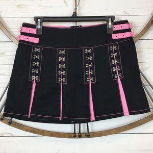 Tripp NYC Mini Skirt Sz Medium Black Pink Punk